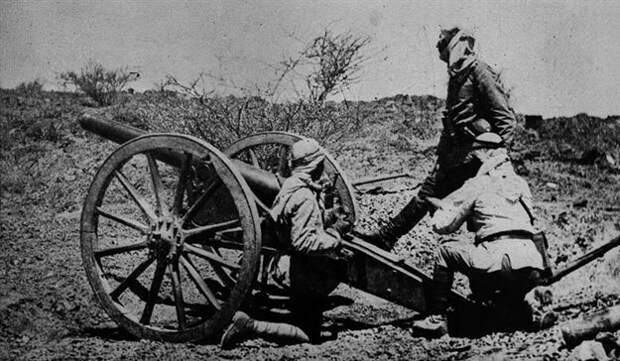 Турецкие солдаты во время Первой мировой войны