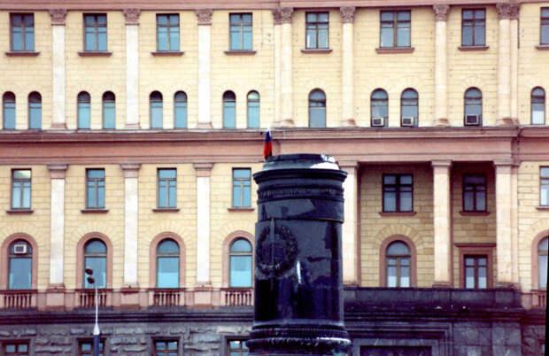 Демонтированный памятник Феликсу Дзержинскому в Москве.