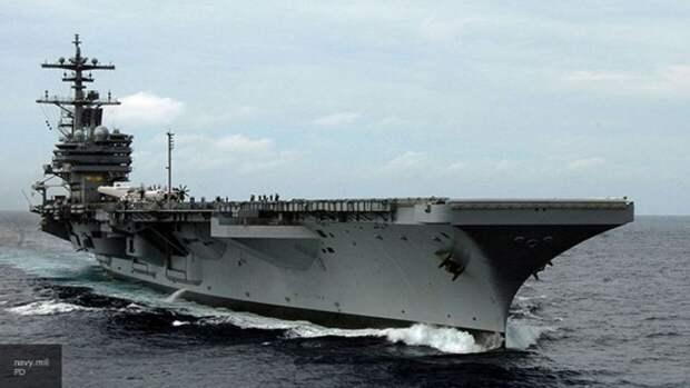 Ударная группа кораблей ВМС США вошла в акваторию Персидского залива