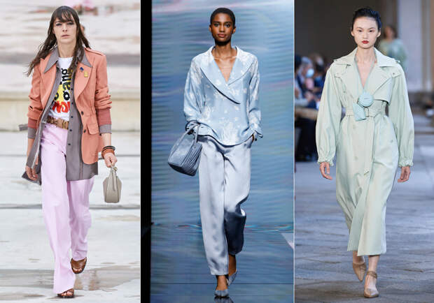 От ярких пальто до широких джинсов: 10 основных модных тенденций весны 2021