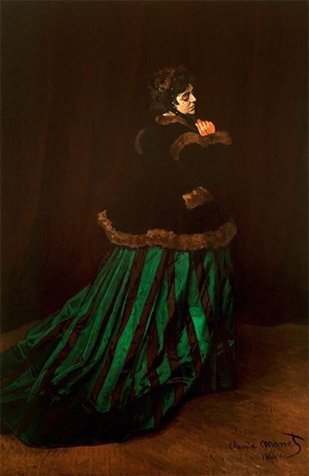 В 1866 году Клод Моне стал известен благодаря портрету Камиллы Донсьё, которая через четыре года стала женой художника. У них родилось два сына: Жан (1867 год) и Мишель (1878 год).