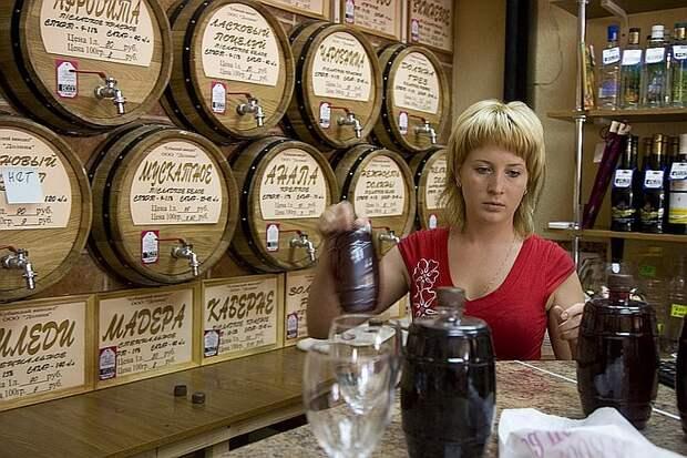 За отсутствие надписи «Вино России» на полках - штраф.