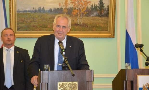 Президент Чехии выдвинул новую версию взыва складов во Врбетице