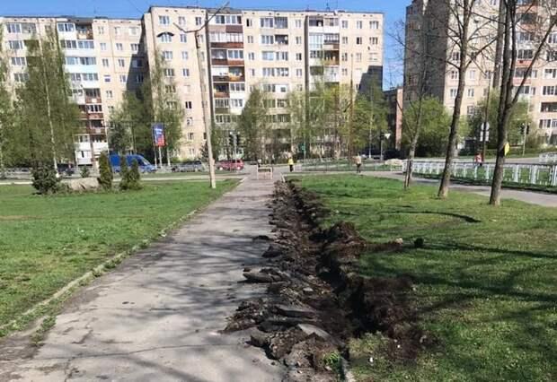 В Петрозаводске началось благоустройство Сортавальского бульвара на Кукковке