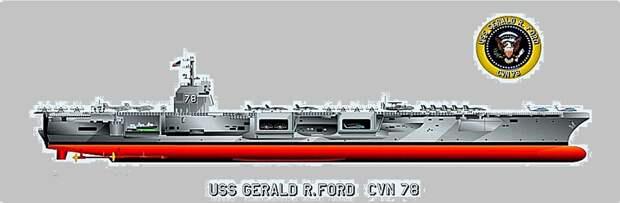 Супергигант авианосец «Джеральд Р. Форд» вошел в строй