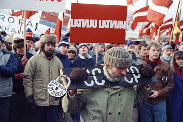 Антисоветские выступления в Риге в январе 1991 года Дмитрий Соколов/ТАСС