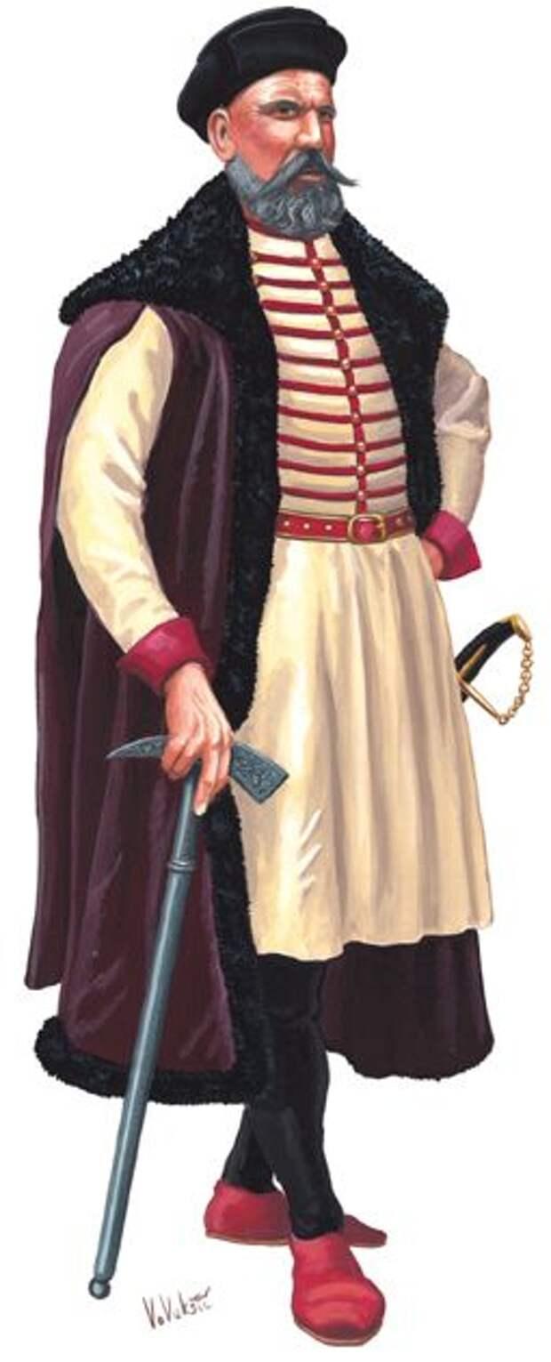 Хорватские воины на службе дома Габсбургов, XVII век.