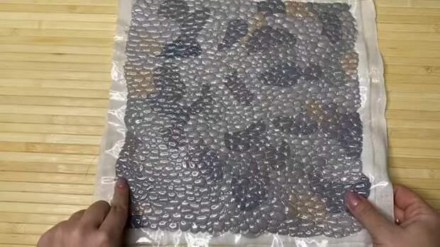 Отличная идея, как обрезки ткани превратить в потрясающую 3D ткань «морская галька»