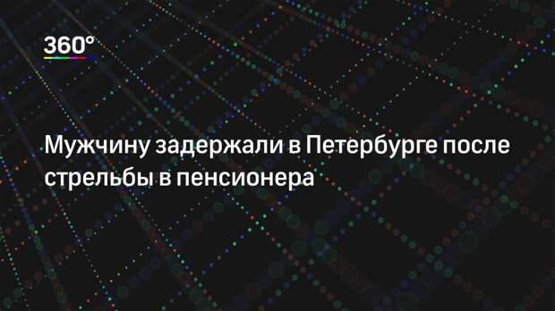 Мужчину задержали в Петербурге после стрельбы в пенсионера