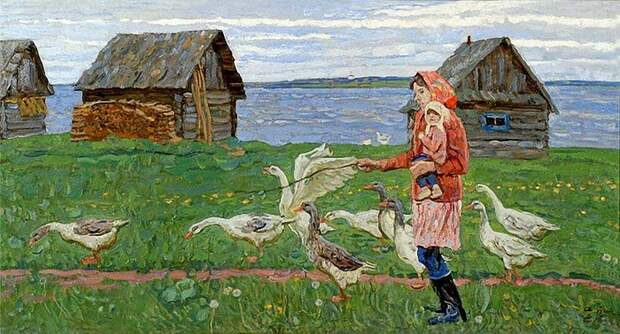 Советские люди в картинах братьев Ткачевых.