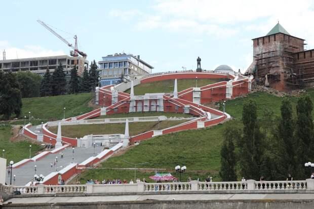 LIVE: Торжественное открытие Чкаловской лестницы после реконструкции