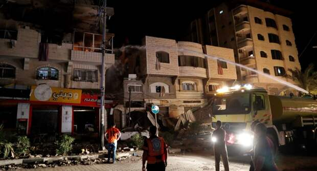 В Сети показали на видео последствия обстрелов Израиля со стороны сектора Газа