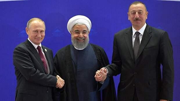 Путин рассказал, о переговорах с Роухани и Алиевым