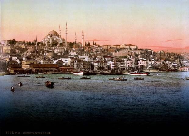 Цветные открытки Константинополя 9