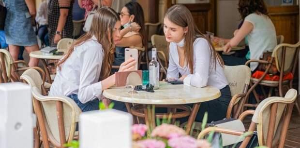 Ресторану в Парке Горького грозит крупный штраф за нарушения антиковидных мер. Фото: М. Мишин mos.ru