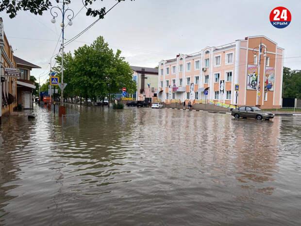 Ситуация в Керчи и Ленинском районе 17 июня 2021: дороги и дворы затопило, реки вышли из берегов. Прямая трансляция