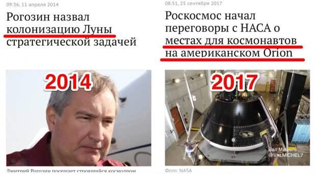Время показало, Рогозин, про батут, был абсолютно прав