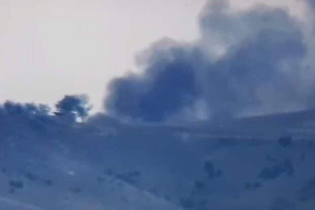 Армянские солдаты подбили азербайджанский танк