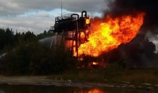Пожар вспыхнул на месторождении нефти в ХМАО