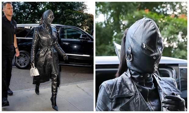 Прогулка в стиле БДСМ: Ким Кардашьян прошлась по Нью-Йорку в кожаной маске