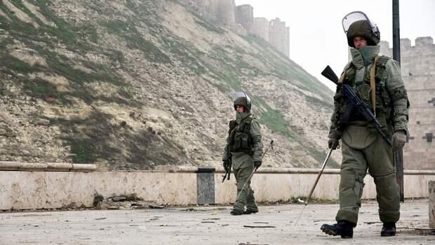 Российские саперы рассказали о патрулировании и разминировании в Сирии