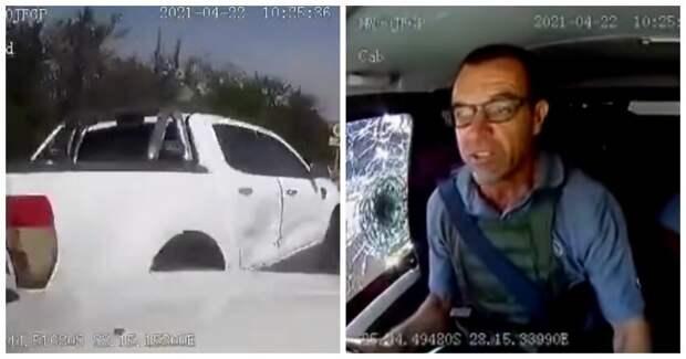 В Сети появилось продолжение вирусного видео о нападении на инкассаторов в ЮАР