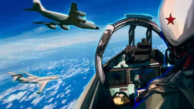 Российские Су-27 перехватили истребители ВВС Франции над Черным морем