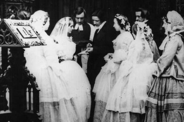 Скромная викторианская свадьба, 1860-е. Источник: historyextra.com