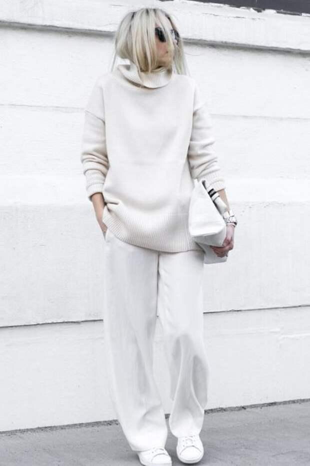 Аутфит в белом цвете всегда смотрится роскошно. /Фото: ledressingideal.fr