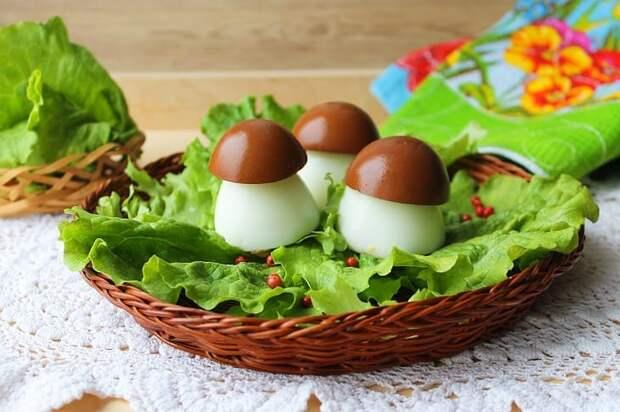Яйца фаршированные Боровички. Оригинальная закуска на праздник 6