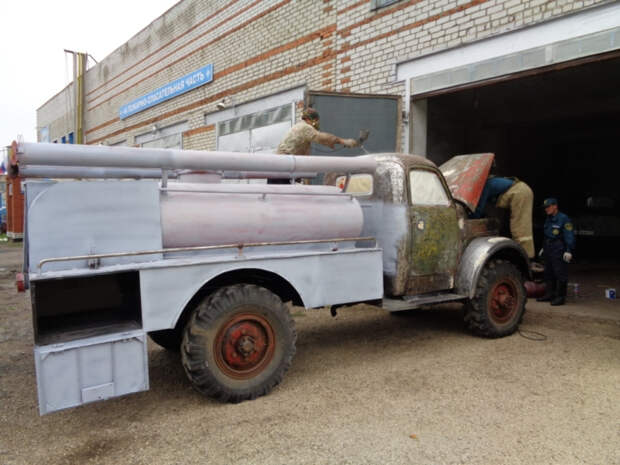 В Чувашии восстановили старую пожарную машину АЦУ-20 авто, восстановление, мчс, олдтаймер, пожарная машина, пожарные, реставрация, ретро авто