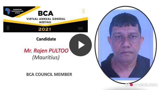 Élections du Conseil de la BCA 2021 - Rajen PULTOO (MRI) - Membre du Conseil