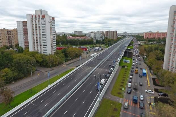 Новая магистраль позволила увеличить скорость движения / Фото: stroi.mos.ru