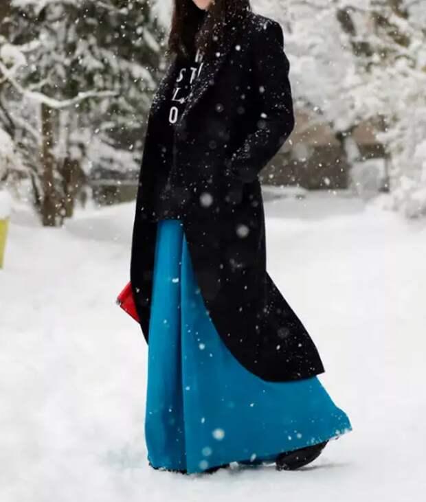 Как зимой носить юбку и не замерзнуть: реальный опыт, который помогает