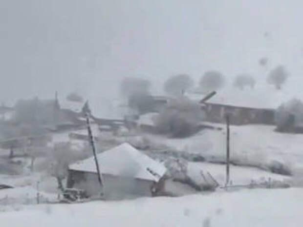 На юг России вернулась зима
