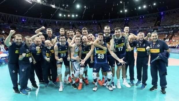 Италия обыграла Словению вфинале чемпионата Европы поволейболу