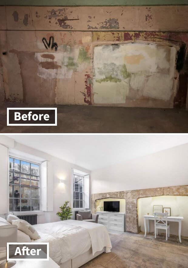 Мужчина превратил заброшенный подвал в роскошную квартиру
