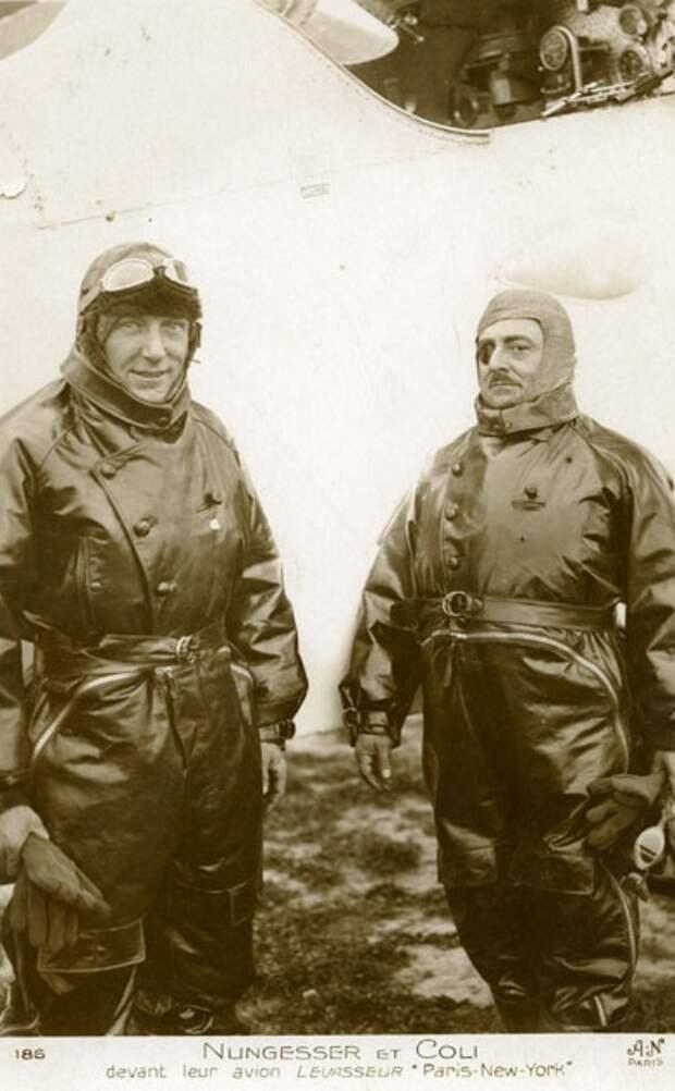 Чарльз Нэнжессе и Франсуа Коли, Париж, 8 мая 1927.