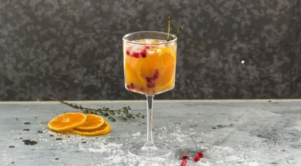 Новогодние коктейли с шампанским