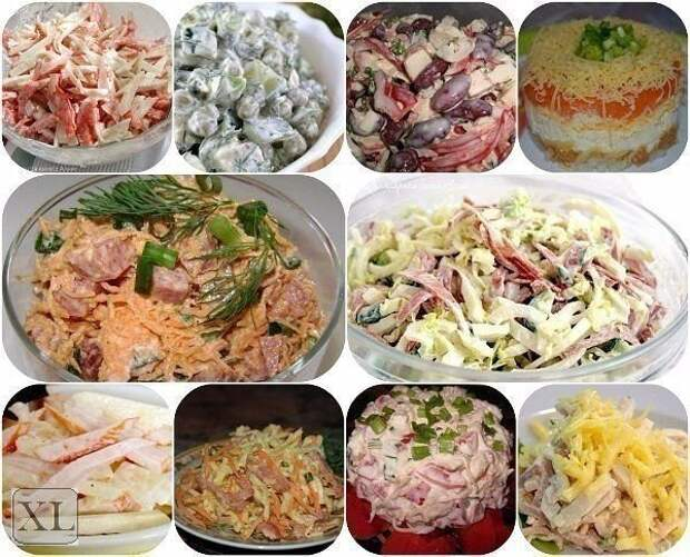 ТОП-10 самых быстрых салатов! готовятся за 10 минут