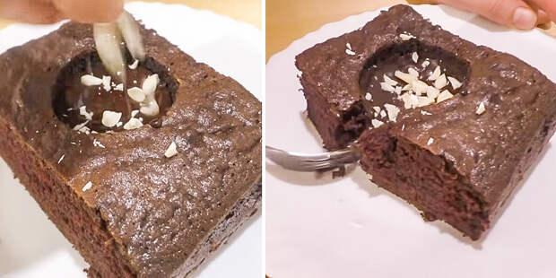 торт с шоколадной начинкой
