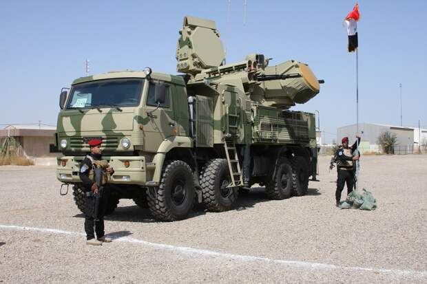 """Российский ЗРПК """"Панцирь С1"""" задействован для обороны авиабазы США в Ираке"""