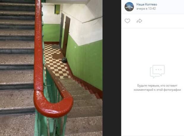 Покраска перил «уровень эконом» обнаружилась в проезде Черепановых