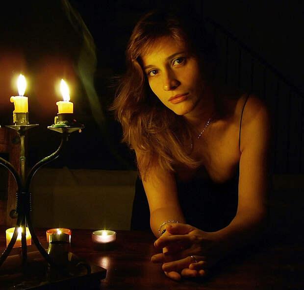 Фотосессия со свечой