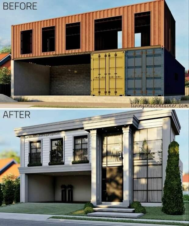 Креативные дома из морских контейнеров