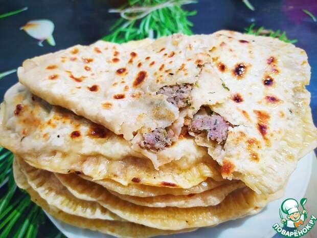 Вкуснейшие лепешки с мясом на Сковороде без дрожжей