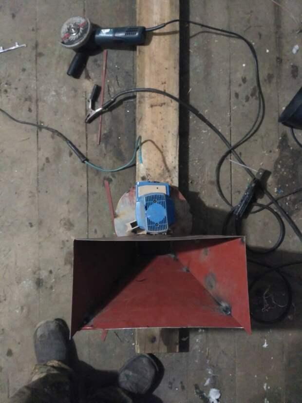Самодельная зернодробилка из электропилы