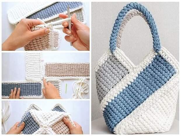Если Вы вяжете крючком, почему бы не связать себе удобную и неповторимую сумочку.