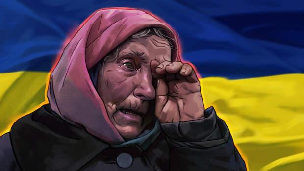 Украинка дозвонилась в прямой эфир ТВ со слезной жалобой на нищенскую пенсию