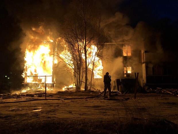 Вкрупном городе ЯНАО заодну ночь сгорело пять домов